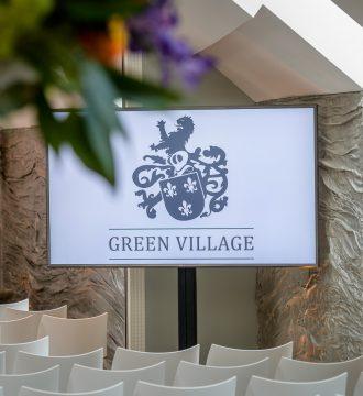 Theateropstelling Green Village inclusief scherm