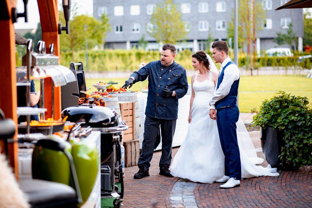 Live bbq bruiloft